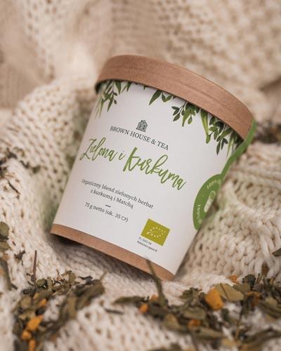 herbata z kurkumą Organiczna zielona herbata z kurkumą 34